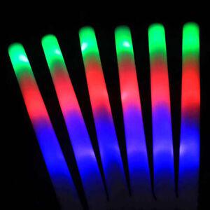 Party-Flashing-Glow-Stick-Light-Up-LED-Multi-Color-Foam-Sticks-Rally-Rave-Baton