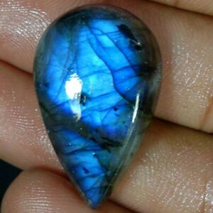 35-75Cts-Natural-Multi-Fire-Spectrolite-Labradorite-Pear-Cabochon-Loose-Gemstone