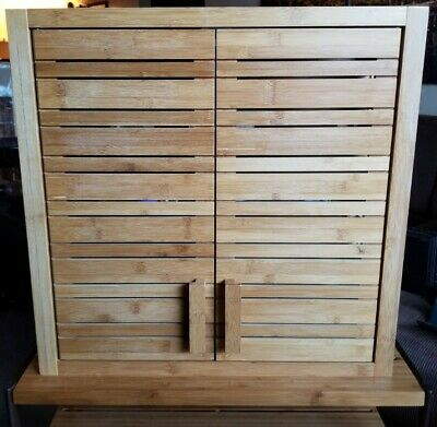 Natural Spa Hanging Wall Cabinet In, Bamboo Bathroom Wall Cabinet