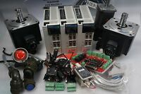 MITSUBISHI SERVO 1KW 750W,3-AXIS KIT,DRIVER MOTOR,MR-J2S-100A,CNC,ROUTER WORKING