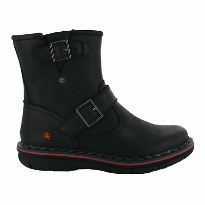 The Art Company 0430 Assen Boot Crazy Horse Negro, leather boot with buckle
