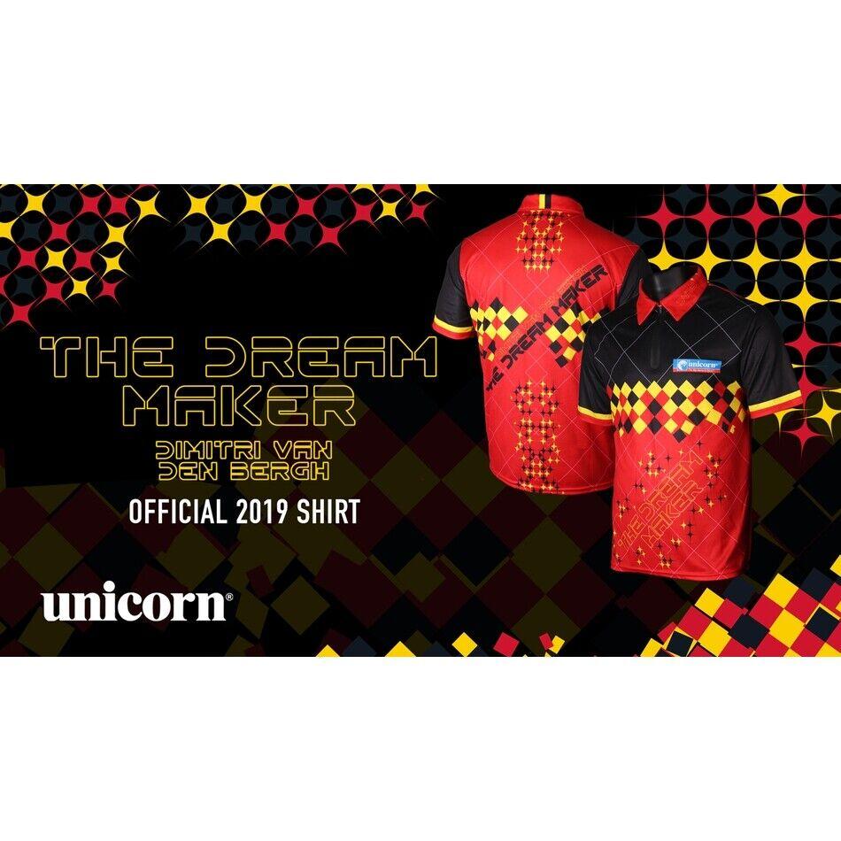 Unicorn Dimitri Van Den Bergh Official 2019 Darts Shirt Size XL