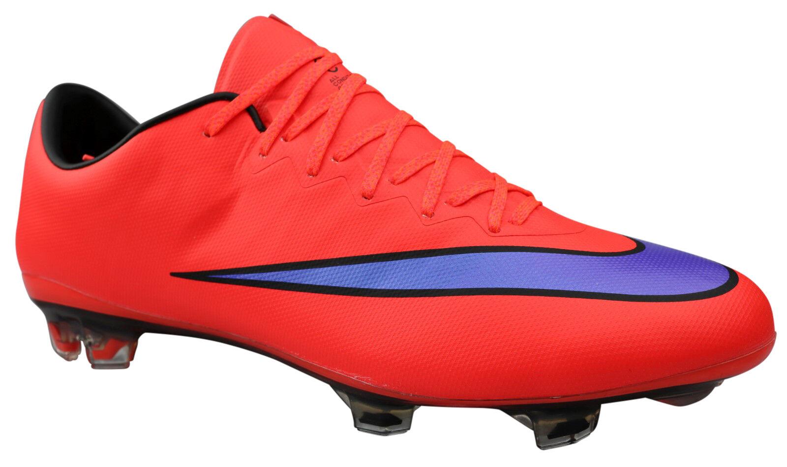 Nike mercurial vapor x FG señores botas de fútbol levas rojo talla 45,5 47 nuevo & OVP