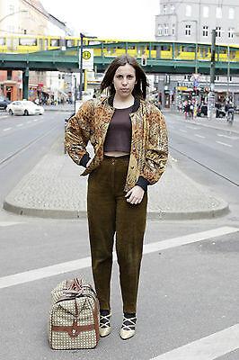 Tru Blouse Giacca Leo Tiger Velluto Giubbotto Oro 80er True Vintage 80s Jacket Velvet-mostra Il Titolo Originale