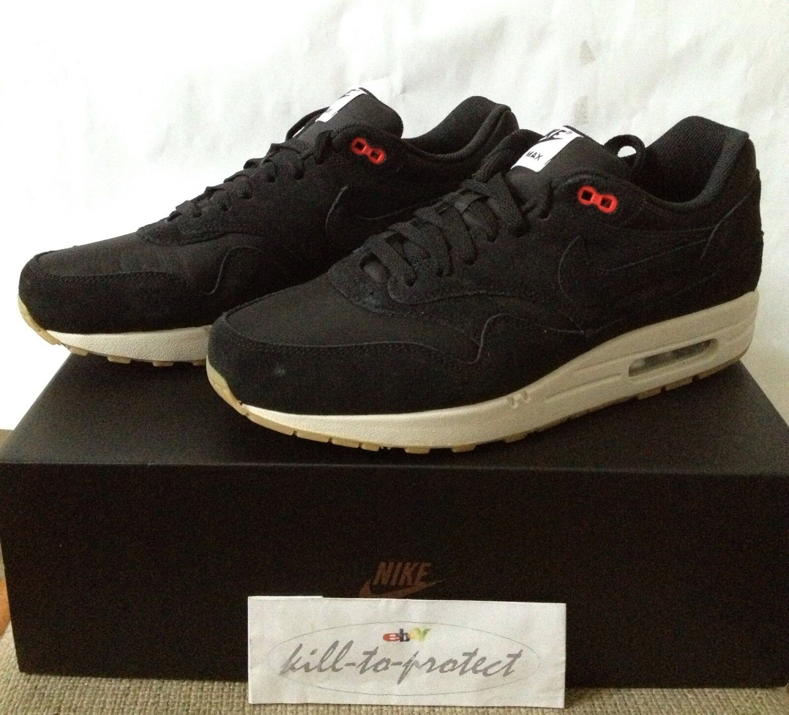 NIKE AIR MAX 1 ONE ENGLAND US11 UK10 HYPERSTRIKE 999888-001 noir 2018 Yeezy