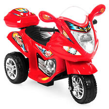 BCP 6V Kids 3-Wheel Motorcycle Ride-On Toy w/ LED Lights, Music, Storage