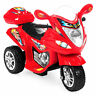 BCP 6V Kids 3-Wheel Motorcycle Ride-On w/ LED Lights, Music, Storage - Red