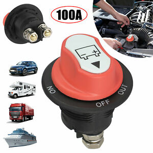 100A Battery Isolator Switch Disconnect Power Cut Off Kill for Car Boat RV Truck