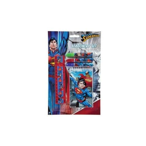 DC Comics Superman Schreib Set 5 teilig Superheld Block Stifte Lineal NEU NEW