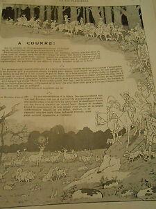La-Chasse-a-Courre-Cerf-Chiens-Print-Art-1907