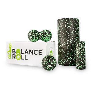 Komplett-Set-Faszienrolle-Balance-Roll-Fitnessrolle-Blackroll-alternative-Yoga