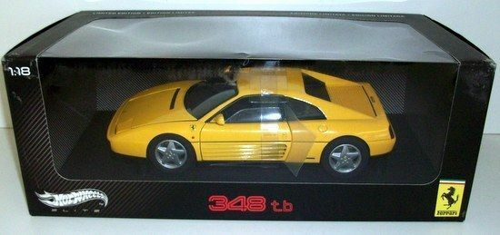 HOT WHEELS 1 18 - V7437 FERRARI 348 TB - YELLOW