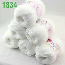 Sale 3ballsx50g DK Baby Cashmere Silk Wool hand knitting Yarn 1842 Aubergine