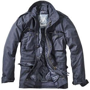 Details over Brandit M 65 Standaard Jack Politie Veiligheid Parka Heren Warme Outdoor Jas Nav