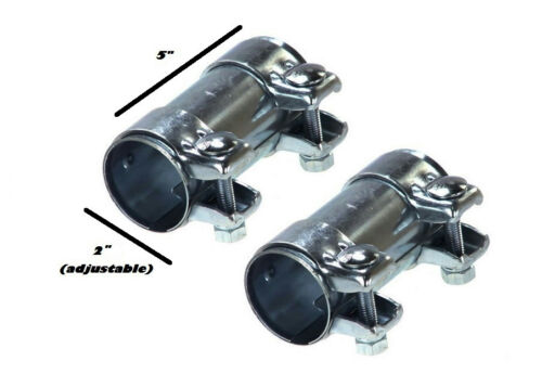"""dual clip muffler Exhaust clamp pair of Two 2/"""""""