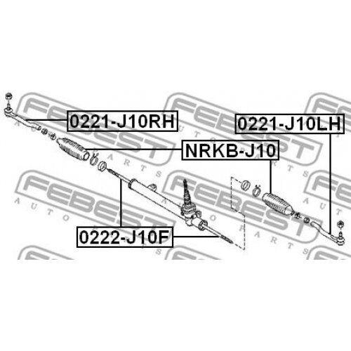 FEBEST Tie Rod End 0221-J10LH