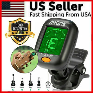LCD-Clip-on-Chromatic-Acoustic-Electric-Guitar-Bass-Ukulele-Banjo-Violon-Tuner