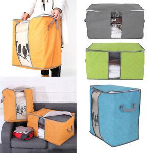 Foldable-Home-Closet-Storage-Bag-Organizer-Blanket-Clothes-Quilt-Box-Portable