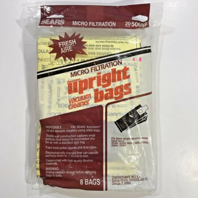 New Sears Kenmore Upright Vacuum Cleaner Bags  8 Pack