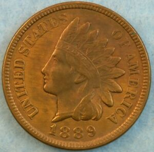 1889-Indian-Head-Cent-Penny-Very-Old-Coin-Fast-S-amp-H-36154