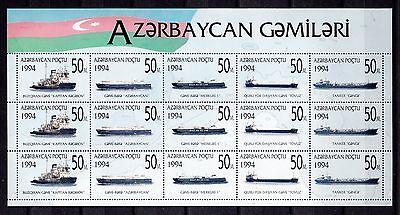 102139/ Aserbaidschan 1994 - Kb Mi 167/71 - Handelsschiffe - **