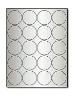 Silver Foil 2 Round Labels For Laser Printers - 10 Sheets / 20... Free Shipping