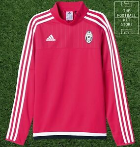 more photos a4b5e eec7c Details about Juventus Training Top - Official adidas Football - Pink -  Boys / Kids Sizes