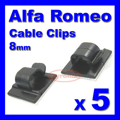 ALFA ROMEO SELF ADHESIVE CABLE CLIPS WIRING WIRE LOOM HARNESS 16mm HOLDER CLAMP