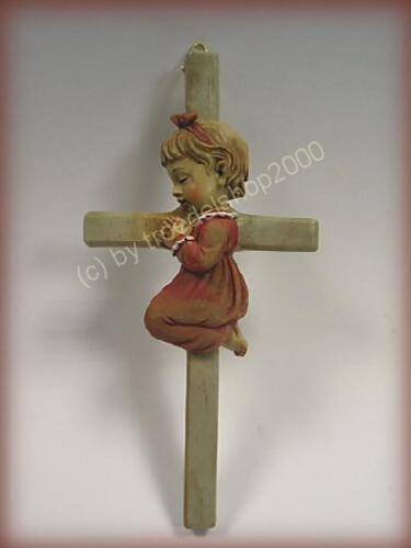 4029 KINDERKREUZ KREUZ Kruzifix Mädchen Kinder Geschenk Wandkreuz Deko Geburt