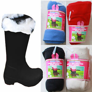 mens-Ladies-kids-Wellington-Boot-Socks-Fleece-Liners-Thermal-Welly-wellie