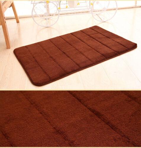 Thick Fleece Mat Absorbent Slow Rebound Rug Nonslip Pad Bathroom Kitchen DoorMat