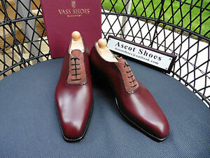 11 Eu Bordeaux Calf Vass Vt445 Oxford Italian 44 Sued Last K 10 Us Uk nH8qxC46qw