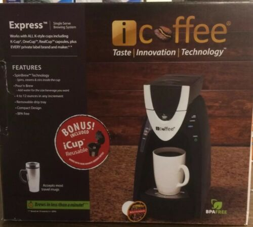 iCoffee Express Single Serve Brewing System by Remington  Bonus iCup included