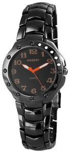 Akzent-Herrenuhr-Schwarz-Orange-Titan-Look-Analog-Armbanduhr-XSS7671200040