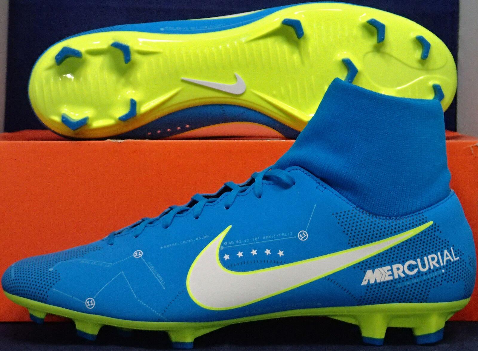 Nike Mercurial Victory VI 6 DF NJR FG Neymar JR. Cleats SZ US 8 ( 921506-400 )