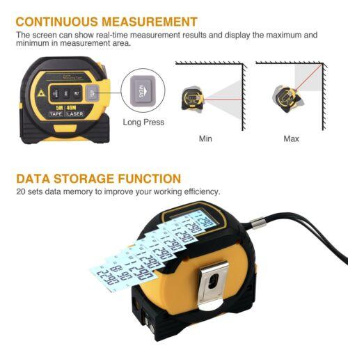Laser Tape Measure Laser Level Tape Measure Distance Measuring 131 Ft 3-in-1
