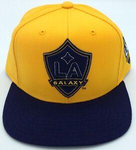 e2e2ca98c1489 MLS L.A. Galaxy Adidas Strucured Flat Brim Snap Back Hat Cap Beanie ...