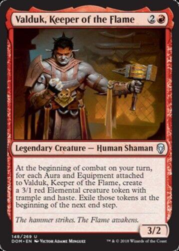 Keeper of the Flame Dominaria Near Mint English -BFG Valduk x1 1x Foil