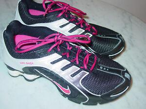 9efe0b7e2a69 2011 Nike Shox Navina Black White Vivid Pink Running Shoes Size 7.5 ...