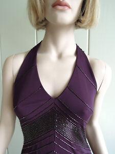 abendkleid lang gr 36 gr 38 sexy purpur violett stabpailletten rassig luxus  ebay