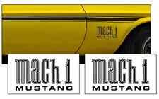 1971-1972 MUSTANG MACH 1 FENDER NAME DECAL SET - #827