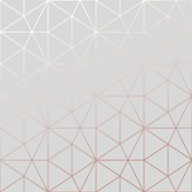 Geometric Grey Rose Gold Wallpaper Wow009