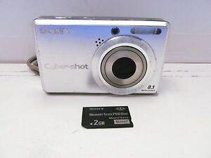 sony dsc s780 cybershot digital camera 8 1 mp silver 3x zoom 2 5 rh ebay com Sony Cyber-shot Digital SLR sony cybershot dsc s750 manual