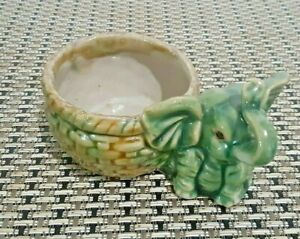 Vintage-Ceramic-Elephant-Lucky-Bamboo-Foliage-Plant-Vase-Holder-Asian