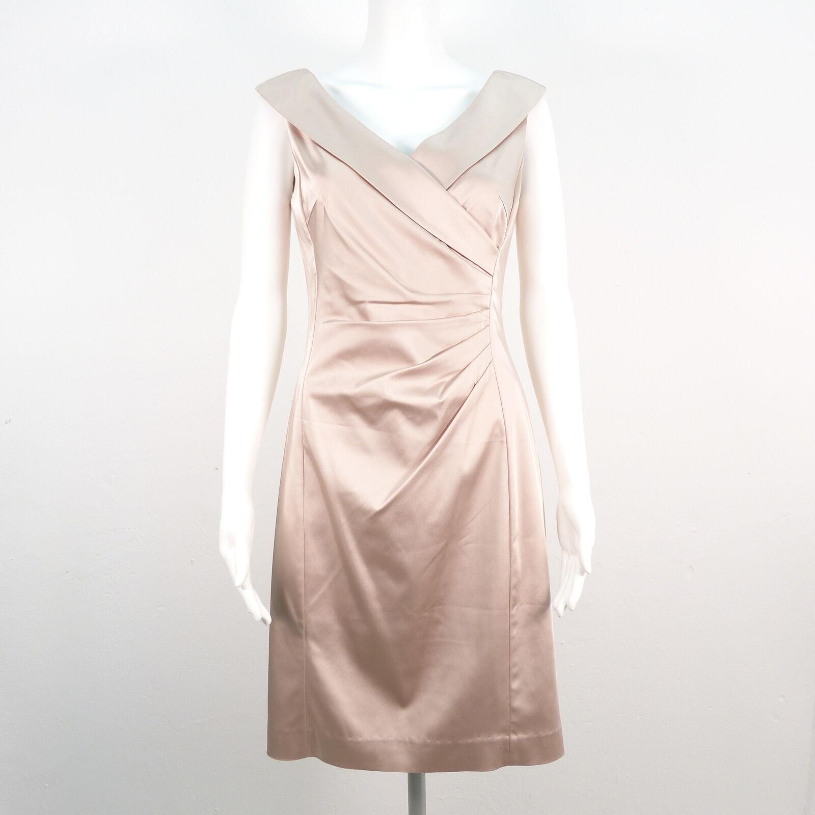 Christian Berg Abito Da Cocktail Tg It 36 rosa donna stretch satin dress robe