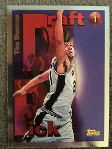 Details About 1997 98 Topps Draft Pick Tim Duncan Rookie San Antonio Spurs Basketball Card