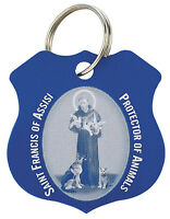 St. Francis Pet Medal Blue(yc403) Protection Tag Stainless Steel Dog Or Cat