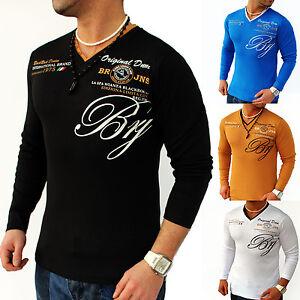 Mens-Sweat-Shirt-Longsleeve-Long-Sleeve-Sweatshirt-Jumper-S-M-L-XL-La-4-15-119