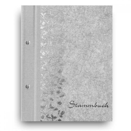 """Stammbuch der Familie Familienbuch Stammbücher /""""Flower/"""" hellgrau A5 Dokumente"""