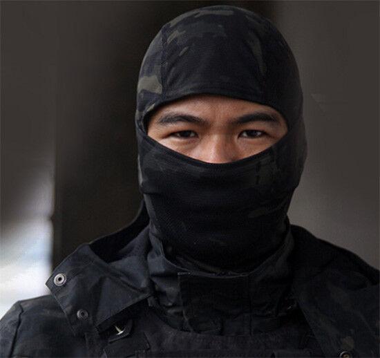 Urban Black Camouflage Balaclava Ski Face Mask Camo Hunting Airsoft motorcycle